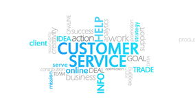 Customer Service, Animated Typography royalty free illustration