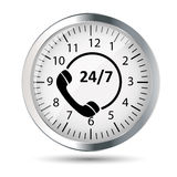 Customer service 24/7 application icon Stock Image