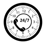 Customer service 24/7 application icon Stock Photography
