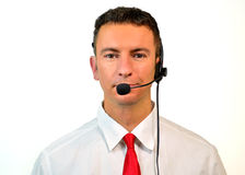 Customer Service assistant or telemarketer royalty free stock photo