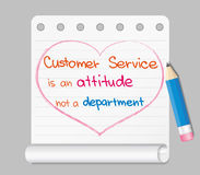 Customer Service is an attitude Royalty Free Stock Photography