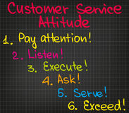 Customer Service attitude Royalty Free Stock Images