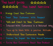 Customer Service Attitude. Sketched wordrs and charts for customer service Royalty Free Stock Photo