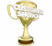 Customer Service Award Prize Best Staff Words. 3d Illustration stock illustration