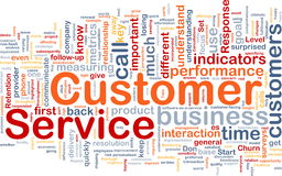 Customer service background concept Stock Image