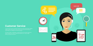 Customer service banner Royalty Free Stock Photography