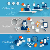 Customer Service Banners Royalty Free Stock Photography