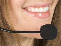 Customer service beautiful smile Royalty Free Stock Photos
