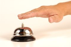 Customer service bell Stock Photo