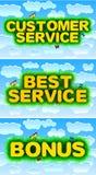 Customer Service - Best Service - Bonus Royalty Free Stock Photos