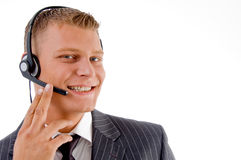 Customer service busy on phone call Royalty Free Stock Photography