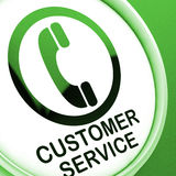 Customer Service  Button Means Call For Help Royalty Free Stock Images