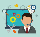 Customer service and call center Royalty Free Stock Photography