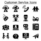 Customer Service & Call Center icons Stock Images