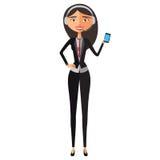 Customer Service Call Center Operator On Duty. Woman customer service vector illustration. Stock Image
