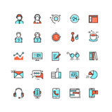 Customer service, call center vector flat icons. Support help line icon, customer help service, support communication assistance, support telephone Royalty Free Stock Photo
