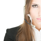 Customer service and call centre operator woman. Stock Photography