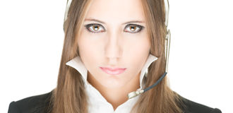 Customer service and call centre operator woman. Stock Images