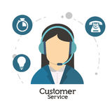 Customer service character operator Royalty Free Stock Photography