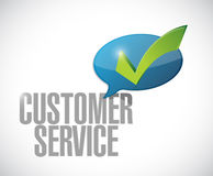 Customer service check mark message illustration Stock Photography
