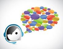 Customer service communication concept Royalty Free Stock Photo