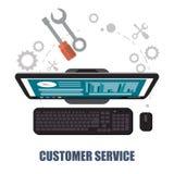 Customer service computer support concept Stock Photos