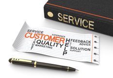 Customer service concep. T with books Stock Image