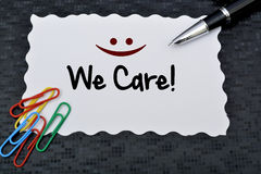 Customer service concept on blackboard-customer friendly support Stock Images