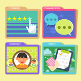 Customer service concept in flat design Stock Images