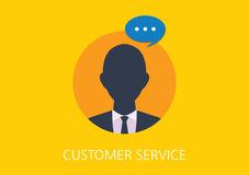 Customer service concept flat icon Royalty Free Stock Images