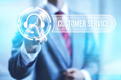 Customer service. Concept pointing finger Stock Photography