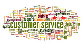 Customer service concept in word cloud Royalty Free Stock Photos