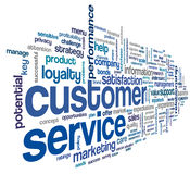 Customer service concept in word cloud Stock Images