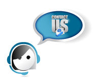 Customer service contact us concept Royalty Free Stock Photography