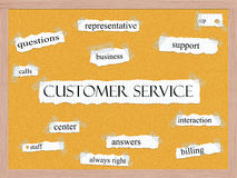 Customer Service Corkboard Word Concept Stock Images