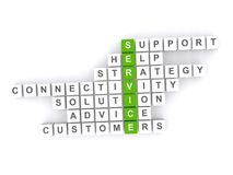 Customer service crossword Royalty Free Stock Image