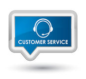 Customer service (customer care icon) prime blue banner button Stock Image