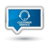 Customer service (customer care icon) prime blue banner button Stock Photography