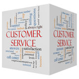 Customer Service 3D cube Word Cloud Concept Royalty Free Stock Image