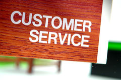 Customer Service Department Sign Stock Photos