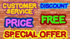 Customer Service, Discount, Price, Free, Special Offer Royalty Free Stock Image