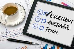 Customer service evaluation Stock Image