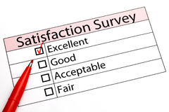 Customer service evaluation form Royalty Free Stock Image