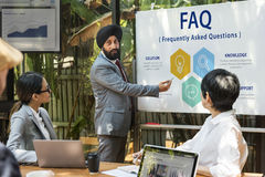 Customer Service FAQs Illustration Concept Royalty Free Stock Image