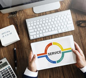 Customer Service Feedback Comment Graphic Concept Stock Image