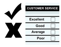Customer Service feedback form Stock Photos