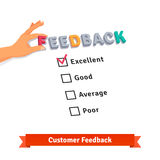 Customer service feedback survey logo Stock Image