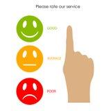 Customer service feedback. Vector illustration Stock Photos