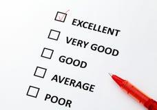 Customer service form Stock Image