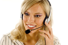 Customer Service Girl Royalty Free Stock Images